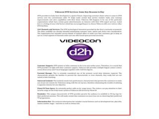 Compare Dth, Videocon D2h Hd Service With Plans & Price, Pac