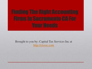 Finding The Right Accounting Firms In Sacramento CA