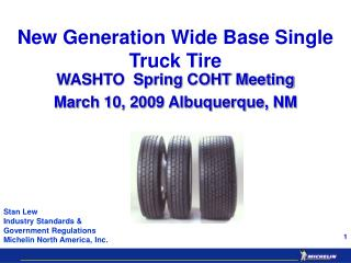 New Generation Wide Base Single Truck Tire