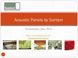 Acoustic Paneling Australia