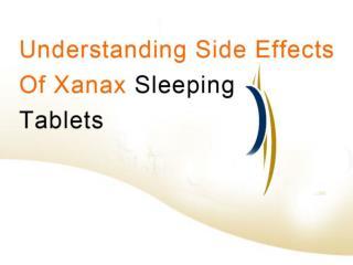 xanax sleeping tablets