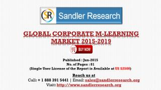 Vendors in Global Corporate M-learning Market Report Profile
