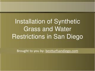 Installation of Synthetic Grass and Water Restrictions in Sa