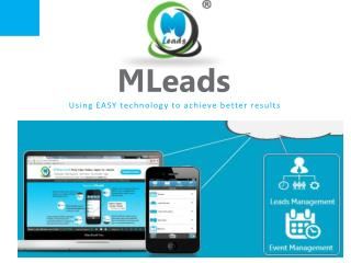 MLeads one stop solution for lead and event management