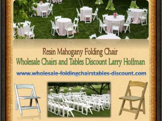 Resin Mahogany Folding Chair - Wholesale Chairs and Tables D