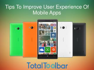 Tips To Improve User Experience Of Mobile Apps