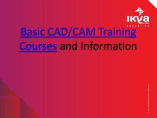 Basic CAD,CAM Courses