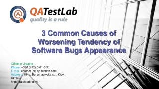 3 Common Causes of Worsening Tendency of Software Bugs Appea