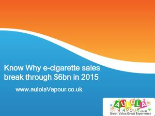 Know why Electronic Cigarettes Sales Increased In UK