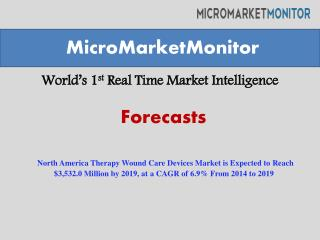 North America Therapy Wound Care Devices Market is Expected