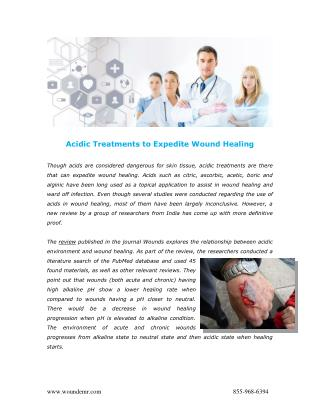 Acidic Treatments to Expedite Wound Healing