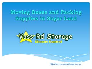 Moving Boxes and Packing Supplies in Sugar Land