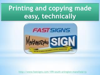 Printing And Copying Made Easy, Technically
