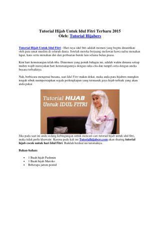 Tutorial Hijab Untuk Idul Fitri Terbaru 2015