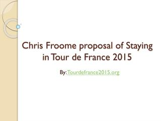 Tour de France 2015 stages and routes