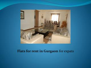 Flats for rent in Gurgaon for expats