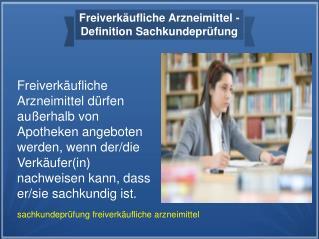 Ihk prüfung | Sachkundeprüfung Freiverkäufliche Arzneimittel