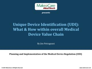 Free Webinar on Unique Device Identification (UDI).