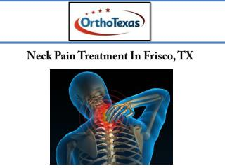 Neck Pain Treatment In Frisco, TX
