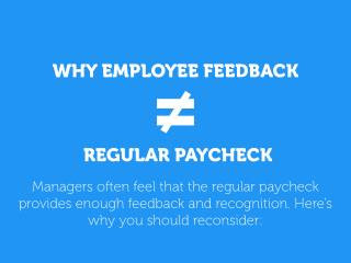 Why a Regular Paycheck Is Not Sufficient Feedback