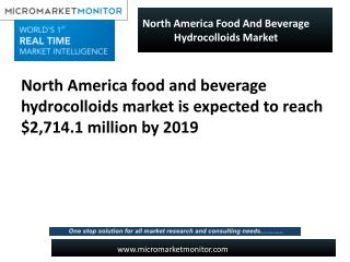 North America food and beverage hydrocolloids market