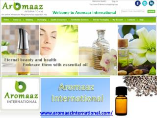 Online Natural Essential Oils Shopping