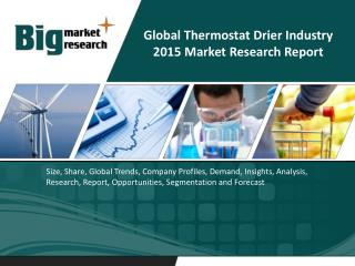 Global Thermostat Drier Industry- Size, Share, Trends