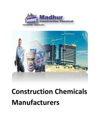 construction chemicals manufacturers