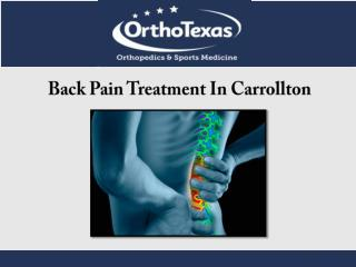 Back Pain Treatment In Carrollton