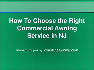 How To Choose the Right Commercial Awning Service in NJ