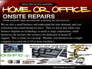 Onsite Professional Computer Repair Service