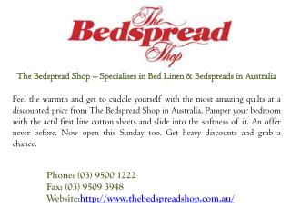 Bed Linen & Bedspreads in Australia at Discounted Prices