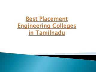Best Placement Engineering Colleges