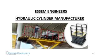 Essem Engineers - Manufacturer of Hydraulic Cylinder