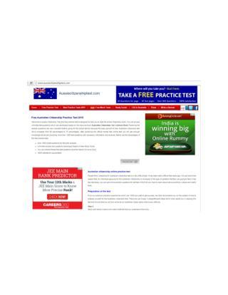 Australian citizenship test | aussiecitizenshiptest.com
