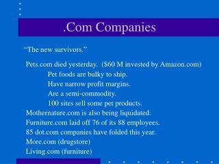 .Com Companies