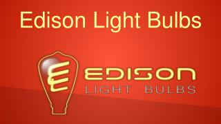 Classic Antique and Vintage Styled Edison Light Bulbs