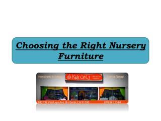 Choosing the Right Nursery Furniture