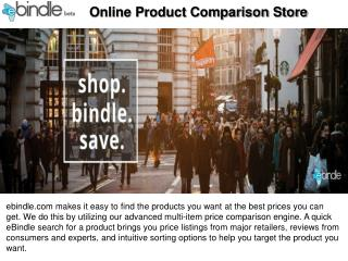 Online Product Comparison Store