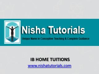 IB Home Tuitions In Mumbai