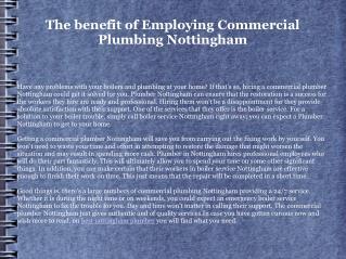 nottingham plumbers