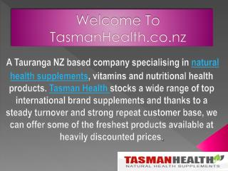 Natural Health Products -TasmanHealth.co.nz