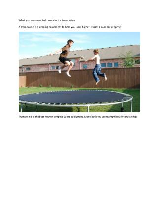 Things about trampoline