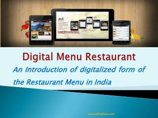 Digital Menu Restaurant Application