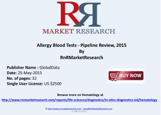 Allergy Blood Tests Device Pipeline Review 2015