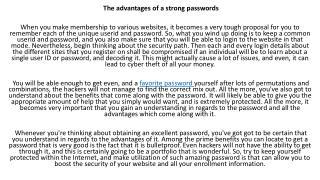 bulletproof passwords
