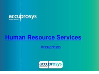 Human Resources and Recruitment Services