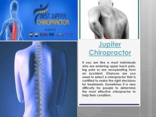 Chiropractor Jupiter FL