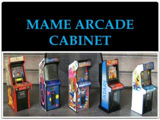Mame Arcade Cabinet