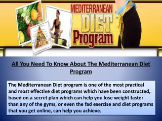 Mediterranean Diet Program